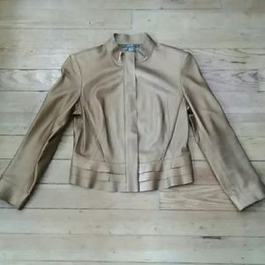 Like New Pre-owned Per Se Leather Waist Jacket